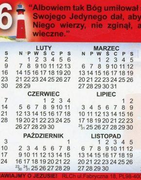Calendar ~ Scripture pocket (Polish)