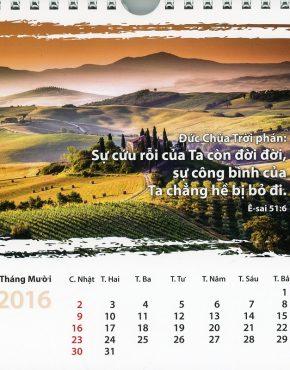 Calendar ~ Scripture postcard (Vietnamese)