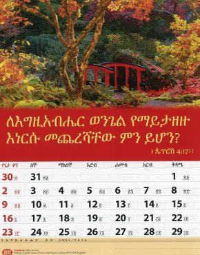 Calendar ~ TBS wall (Amharic)