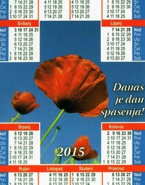 Calender ~ Scripture wallet (Croatian)