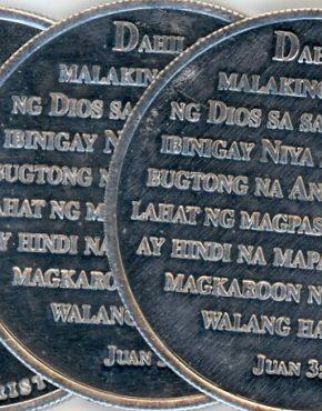 Gospel coins (Tagalog)