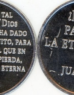 Scripture coin (Spanish)